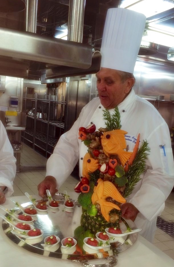 Caribbean Princess Chef's Table - Chef in Kitchen