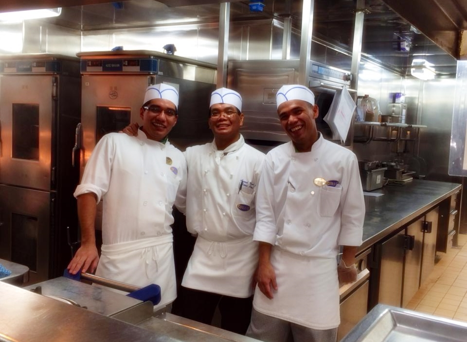 Caribbean Princess Chef's Table - Kitchen Staff